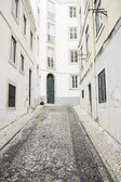 Street closed in Lisbon — Stock Photo