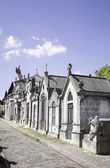Houses in cemetery — Foto Stock