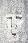 Aged Cross grave — Foto Stock