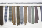 Scarves in colors Marketplace — Stock Photo