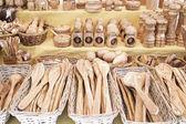 Cubiertas de madera hechos a mano — Foto de Stock