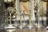 Brass candlesticks — Stock Photo