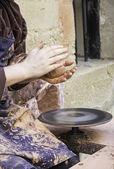 Potter lavorando — Foto Stock