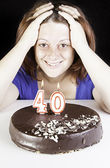 Forty birthday — Stock Photo