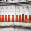 Red candles lit — Stock Photo #51681507