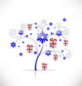 Ağaç hediyeler ile — Stok Vektör