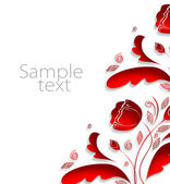 Texture with red flowers — Stock Photo