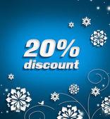 Discount of 20 per cent — Stockfoto