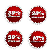 Discount 10, 20, 30, 50 percent — Stock Photo