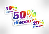 20,30,50 percent discount — Foto Stock
