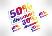 10,20,30,50 percent discount — Stock Photo
