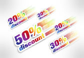 20,30,50 percent discount — Stock Photo