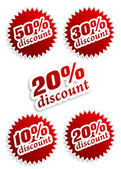 10,20,30,50 percent discount — Foto Stock