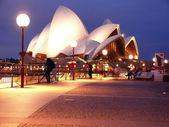 Casa de ópera na noite de 3 de novembro de 2007 em sydney, austrália. — Foto Stock