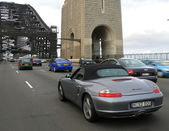 Tense motion on Harbour Bridge, November 3, 2007 in Sydney, Australia. — Stock Photo