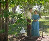 Monumento a scrittori gunn jeannie ed enea, 19 novembre 2007 a mataranka, territorio del nord, australia. — Foto Stock