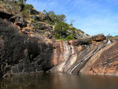 Lake between vertical Rocks. Western Australia, near Perth. — Stock Photo