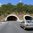 Road with tunnel. - Stock Photo