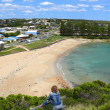 Stock Photo: Small comfortable borough with beach and lagoon. Great OceRoad, Australia, Victoria, National park.