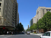 Traffic in centre of city. December 5, 2007 in Adelaide, Australia. — Stock Photo