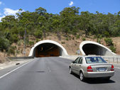 Road with tunnel. December 5, 2007 in Adelaide, Australia. — Stock Photo