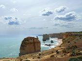 Australia, Victoria. Twelve apostles on Great Ocean Road with fantastic sky. — Stock Photo