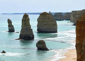 Australia, Victoria. Twelve apostles on Great Ocean Road from flaky limestone. — Stock Photo