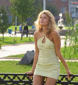 Beautiful, sexy, young write girl — Stock Photo