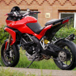 Sportbike, Ducati motorcycle. - Stock Photo