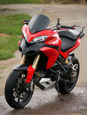 Sportbike, Ducati motorcycle. — Stock Photo
