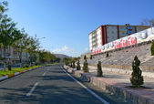 View of the city: the architectural structure of the road in Turkey, Elazig - November 3, 2008. — Stock Photo