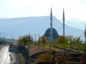 The mosque close-up near the road in Turkey, Elazig - November 3, 2008. — Stock Photo