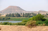 Afrika. sahara çöl akan Nil. — Stok fotoğraf