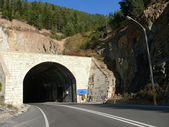 Trabazan. Turkey. The road tunnel. — Stockfoto