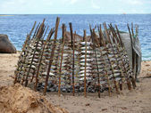 Mtwara, Fish original dried over a fire. Tanzania, Africa. — Foto de Stock
