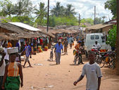NAMAPA, MOZAMBIQUE - 6 DESEMBER 2008: the village Centre.  — Stock Photo
