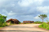 NAIOPUE, MOZAMBIQUE - DECEMBER 7, 2008: the Settlement. A reside — Stock Photo