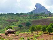национальные африканской деревни. африка, мозамбик, naiopue. — Стоковое фото