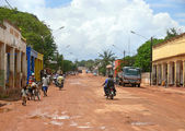 MOCUBA, MOZAMBIQUE - 7 DECEMBER 2008: Street in the village. — Zdjęcie stockowe