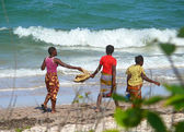 Inhassoro, Mozambique - December 9, 2008: Indian ocean Coast. Th — Stock Photo