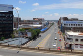 Johannesburg, South Africa - 13 December 2008: road with the mov — Stock Photo