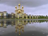 The Christian Church and its reflection in the water. — Stock Photo