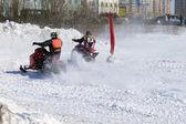 Sníh běžeckého závodu. — Stock fotografie
