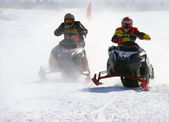 Snow cross-country race. — Stock Photo