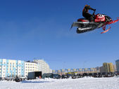 Snow cross-country race. — Stock Photo