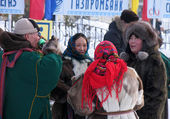 Nadym, Russia -  March 17, 2006: the national holiday, the day o — Stock Photo