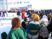 Nadym, Russia - March 2, 2007: the national holiday, the day of — Stock Photo