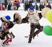 Nadym, Russia - March 3, 2007: the national holiday, the day of — Stock Photo