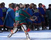 Nadym, Rusia - 15 de marzo de 2008: la fiesta nacional - el día o — Foto de Stock