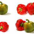Allsorts from isolated fresh pepper — Stock Photo #12332327
